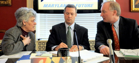 Nancy Kopp, Martin O'Malley and Peter Franchot