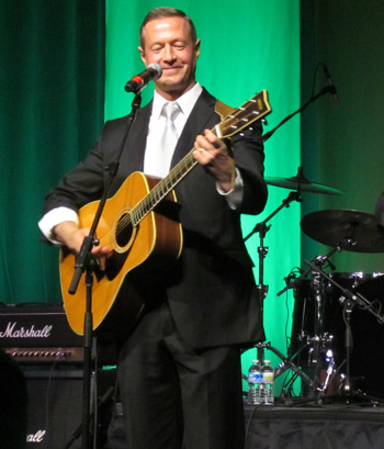 O'Malley and guitar