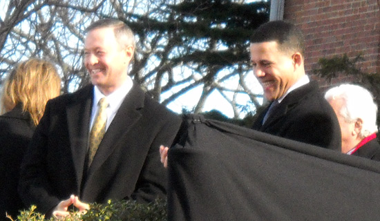 O'Malley-Brown inauguration smiles