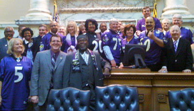 "The 2011 ""Ravens Caucus"" in the Maryland House of Delegates"