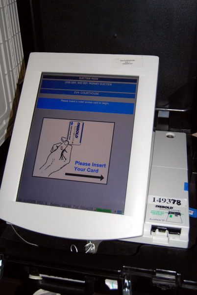 touchscreen voting