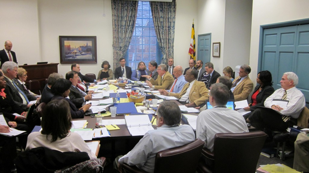 House and Senate members meet on budget conference in 2011. Most of the same players in the same seats were at Tuesday's conference committee.
