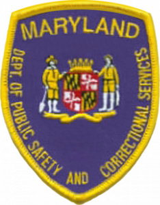 Maryland correctional services shoulder patch