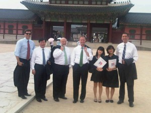 The Maryland in Asia delegation outside of Gyeongbokgung Palace in Korea.