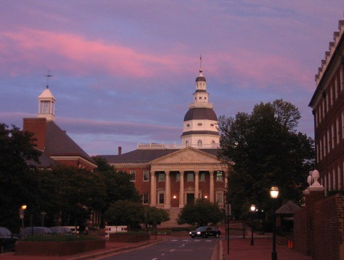 State House complex at sunset by Thisisbossi at Wikimedia Commons