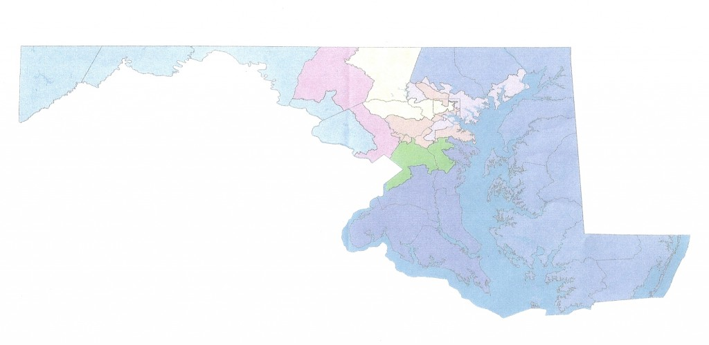A possible congressional redistricting map.