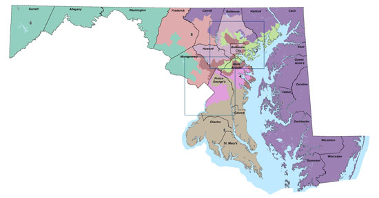 2012 Maryland congressional redistricting map