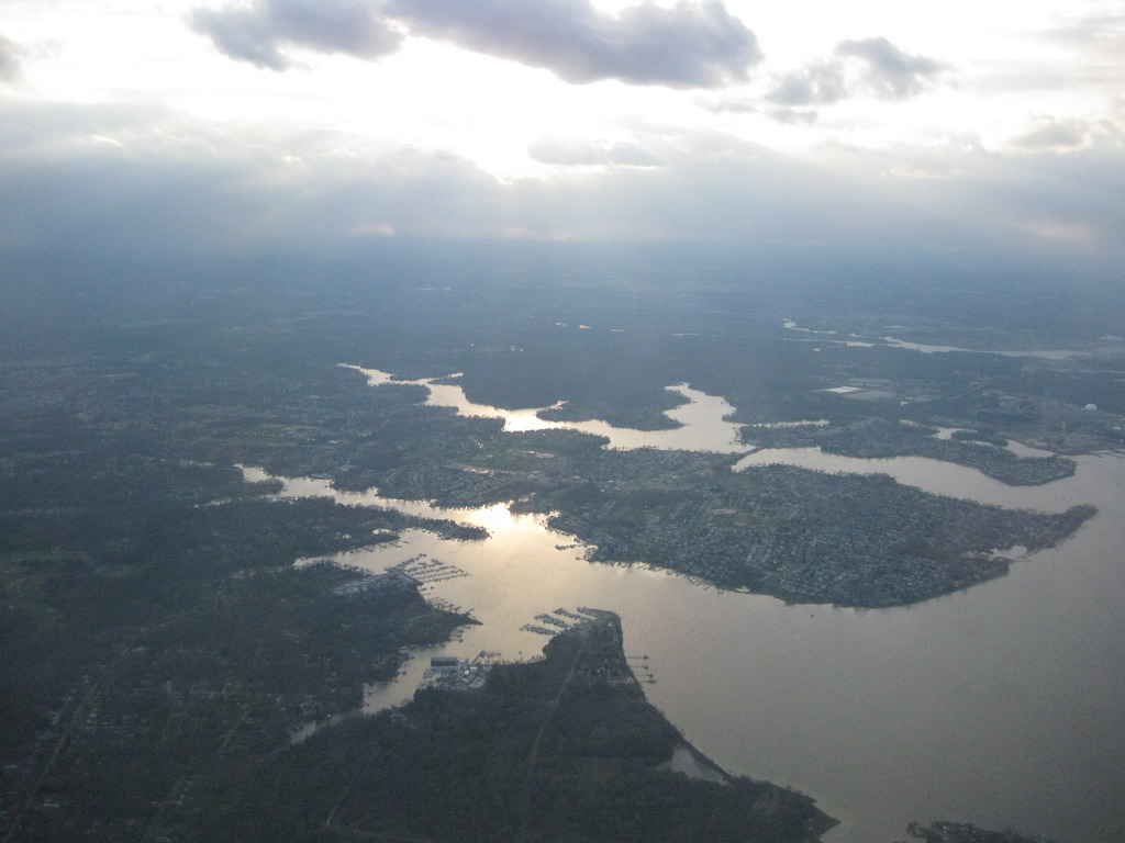Aerial view of Riviera Beach in Anne Arundel County. Photo by add1sun