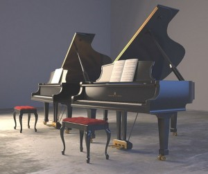 Steinway pianos. Photo by gordontarpley