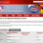 Maryland Elections Center website