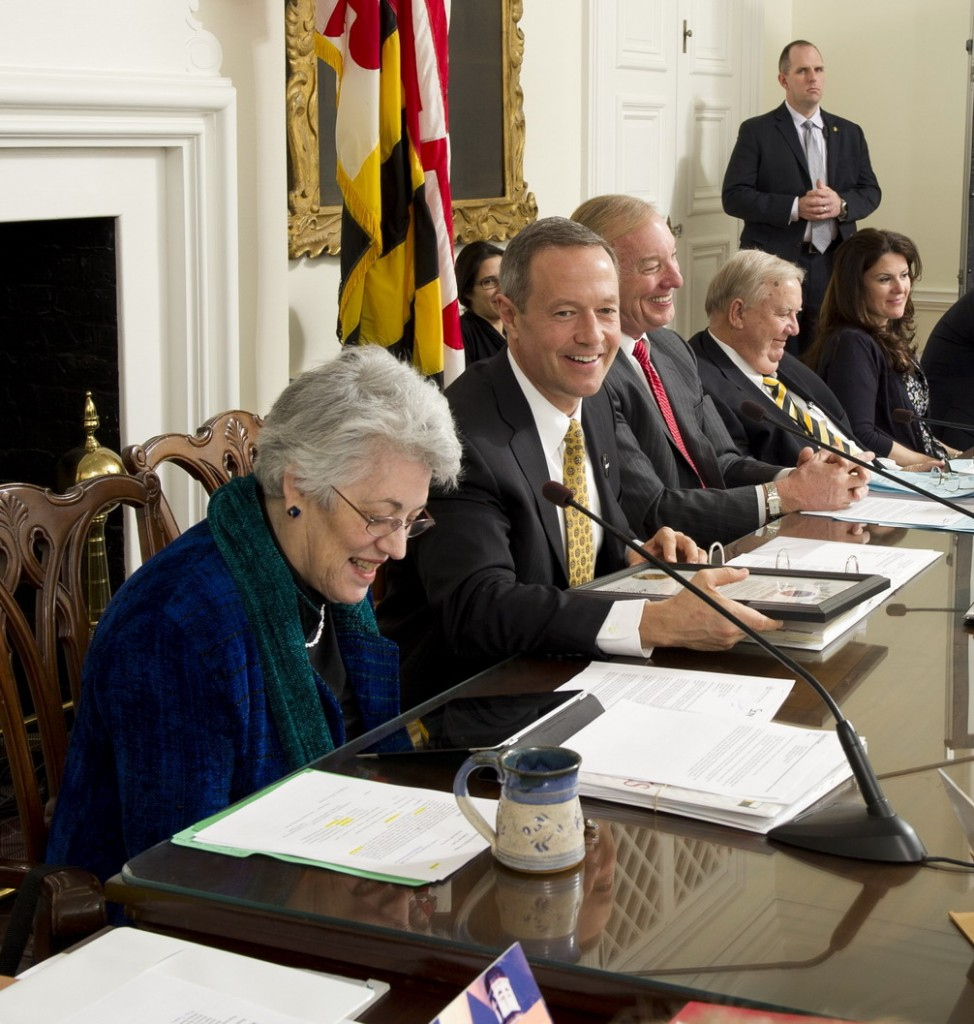 The Board of Public Works: Treasurer Nancy Kopp, Gov. Martin O'Malley, Comptroller Peter Franchot.