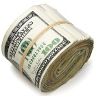 Roll of $100 bills