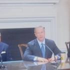 Senate President Mike Miller, Gov. Martin OMalley, House Speaker Michael Busch at April 10 bill signing.