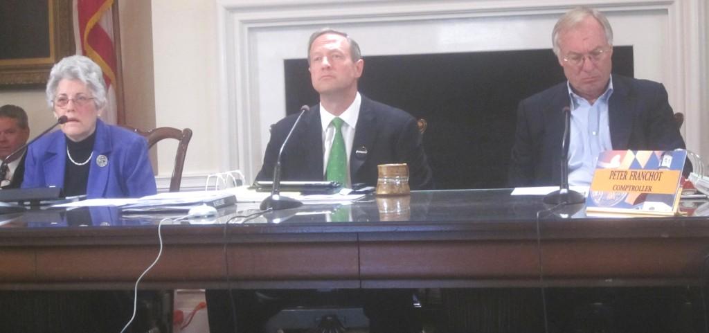 Board of Public Works: State Treasurer Nancy Kopp, Gov. Martin OMalley and Comptroller Peter Franchot
