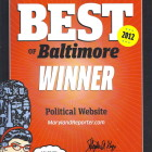 Best of Baltimore Winner certificate