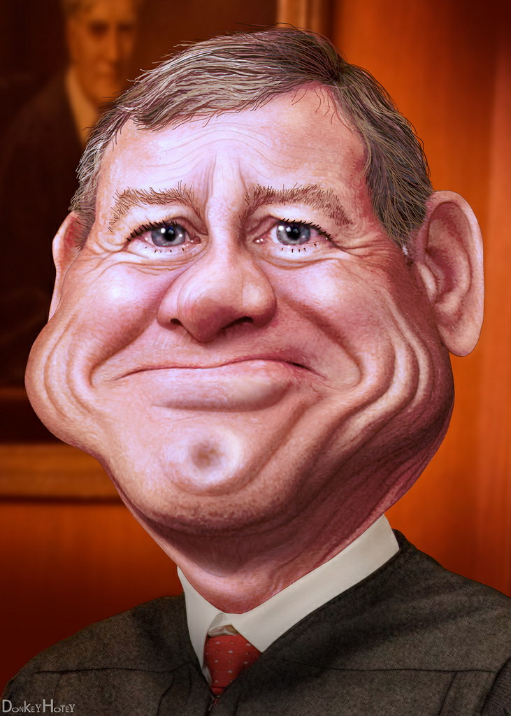 John Roberts caricature by DonkeyHotey/Flickr