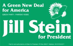 Jill Stein for president sign