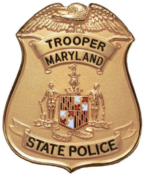 Maryland state police badge