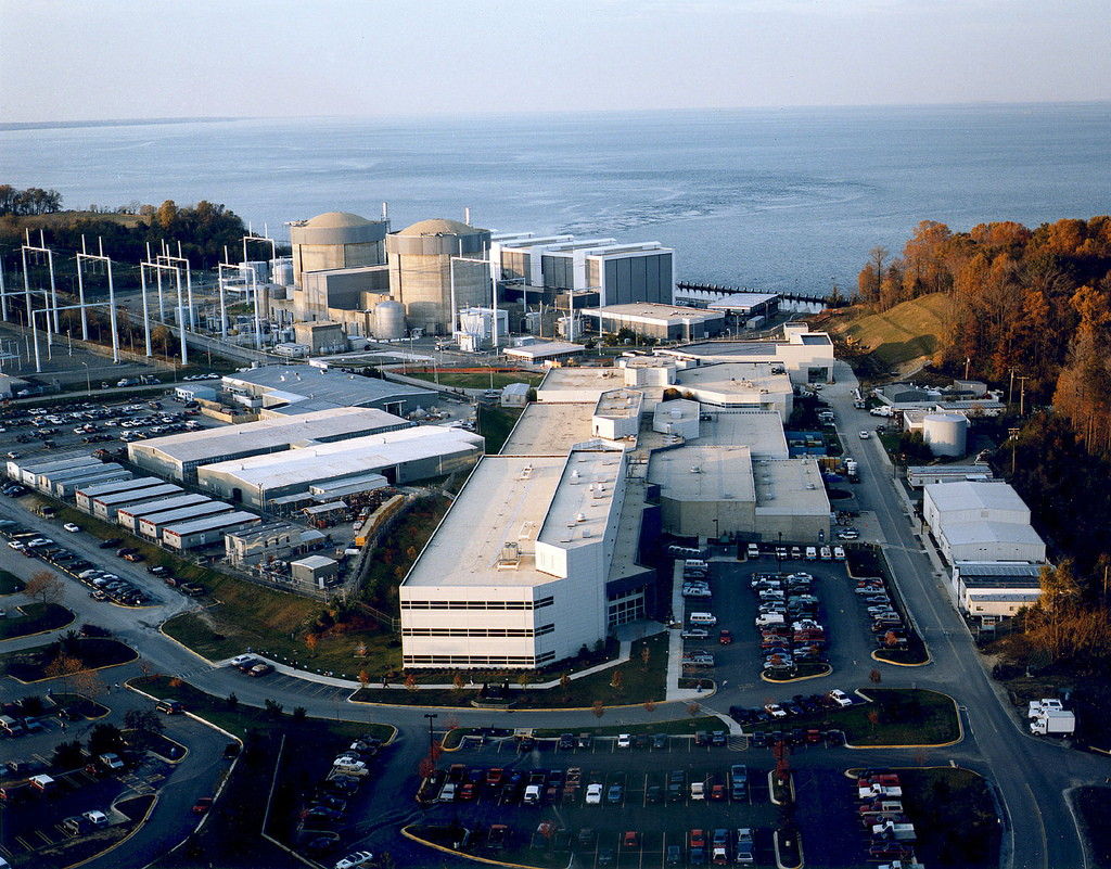 Calvert Cliffs nuclear power plant on the Chesapeake Bay in Lusby (photo by NRCGov on Flickr)