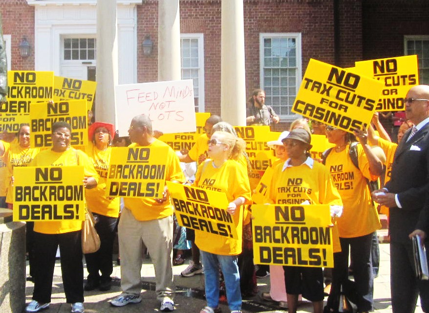 Demonstrators from Prince Georges County oppose sixth casino.