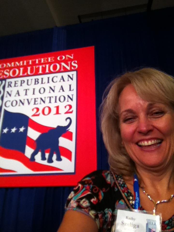 Del. Kathy Szeliga of Baltimore County served on the platform committee. (From her Facebook page)