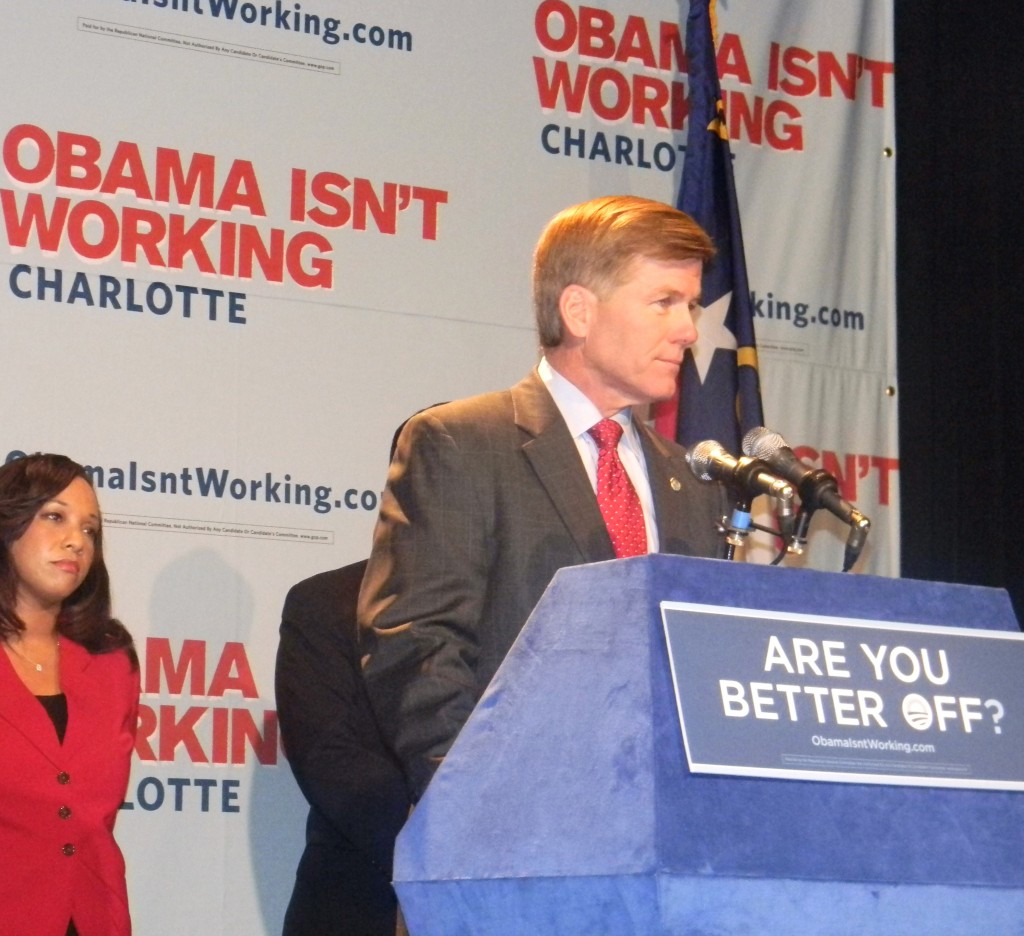 Virginia Gov. Bob McDonnell criticizes President Obama in Norfolk.