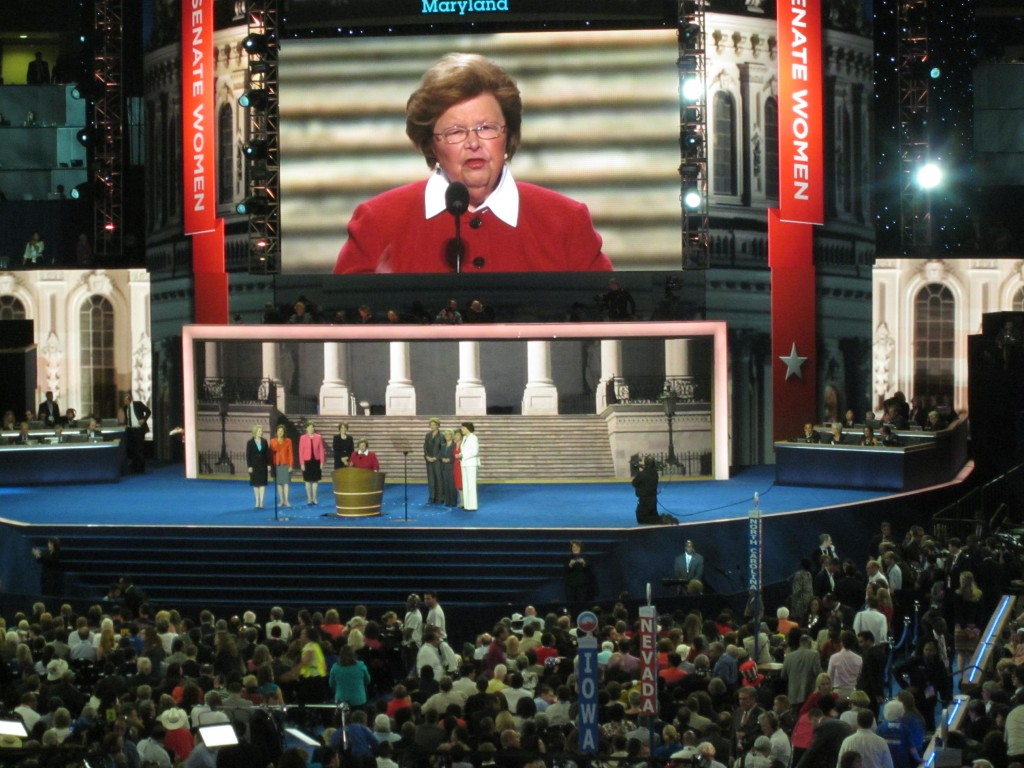 Sen. Barbara Mikulski speaks to convention.