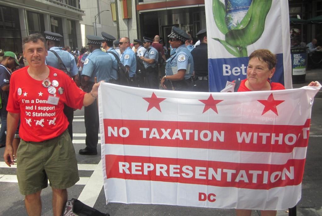 John Capozzi with D.C. statehood group.
