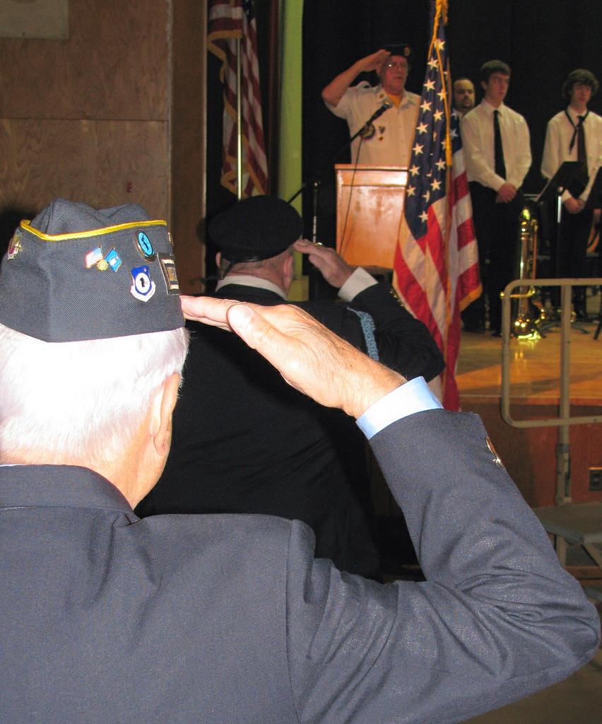 Veterans salute by Mark Sardella on Flickr