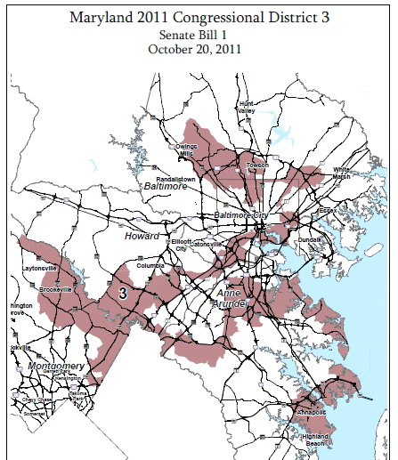 3rd Congressional District 2012 (Md. Planning Dept. map)