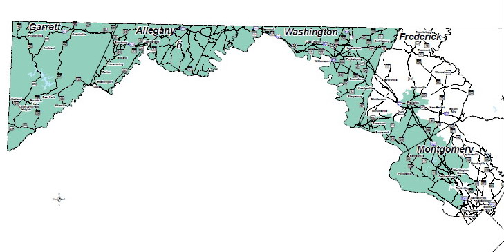 6th Congressional District 2012 (Md. Planning Dept. map)