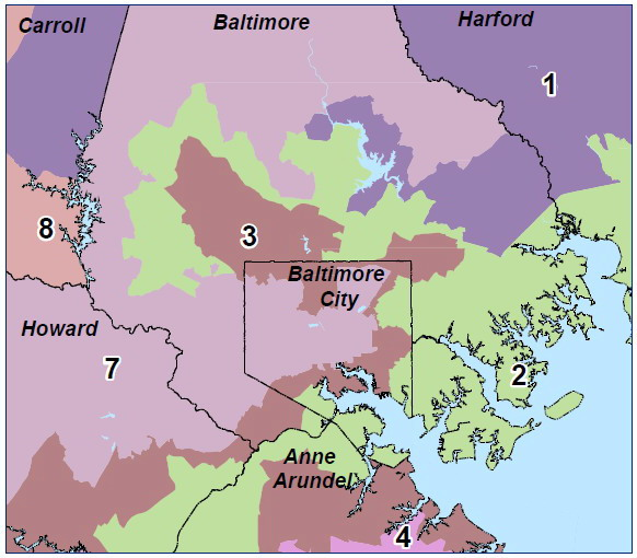 Congressional districts Balt area 1-2-3-7