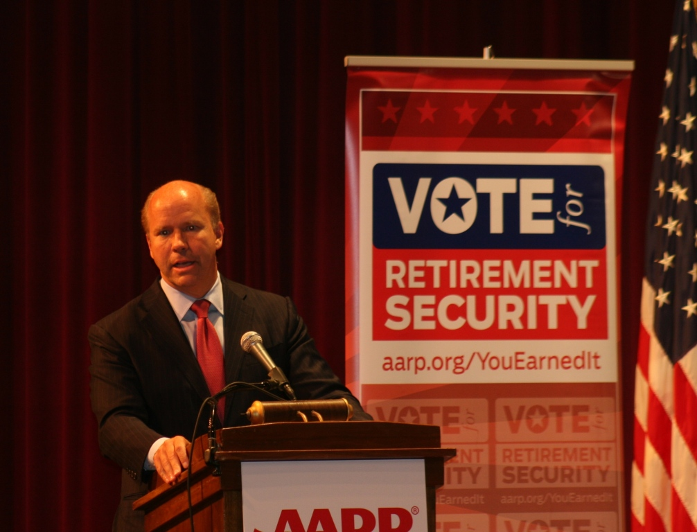 John Delaney at AARP debate Sunday in Frederick