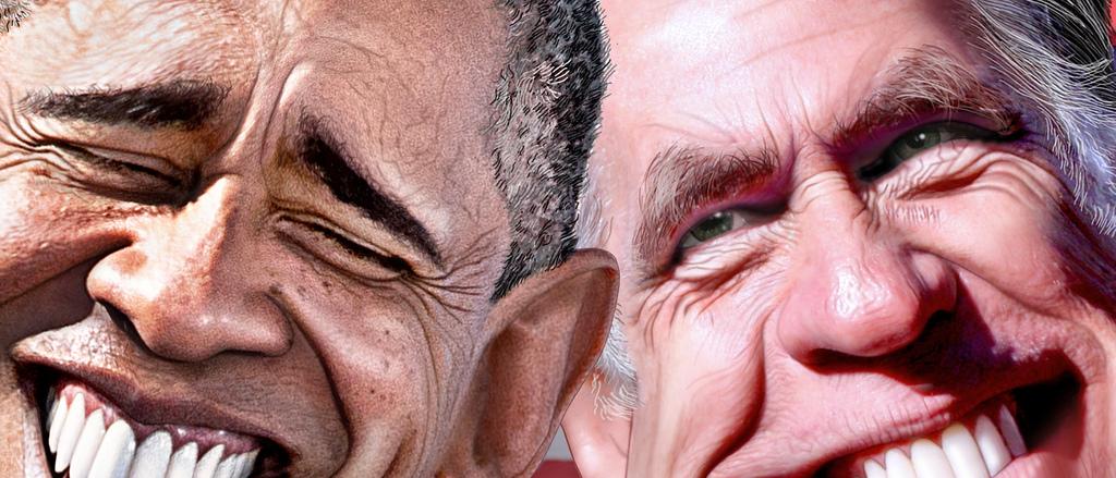 Obama Romney by DonkeyHotey