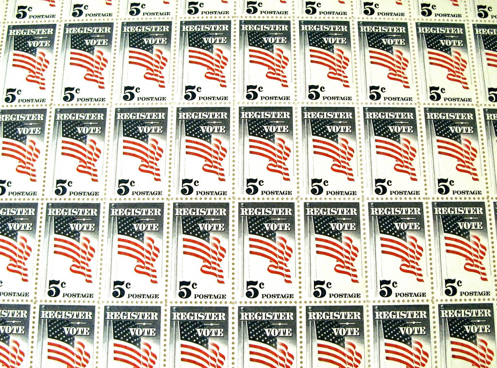 Register to vote stamps