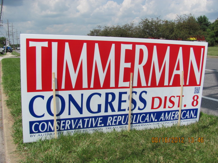 Timmerman for Congress sign