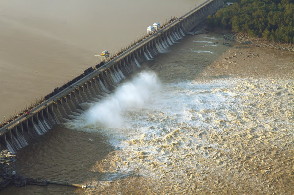 Conowingo dam after Tropical Storm Lee