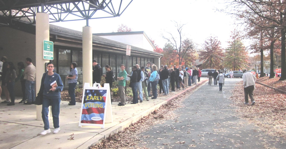 Early voting in Columbia Oct. 27.