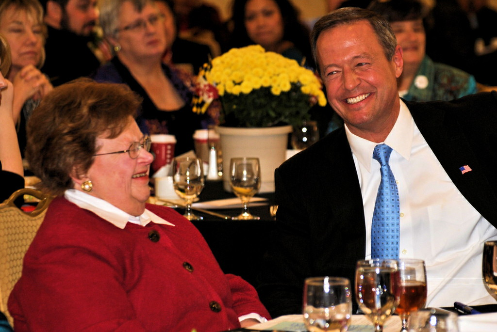 Sen. Barbara Mikulski and Gov. Martin O'Malley (by mdfriendofhillary on Flickr)