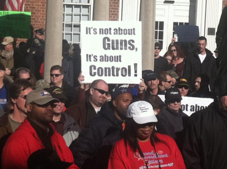 Gun rally not about guns about control