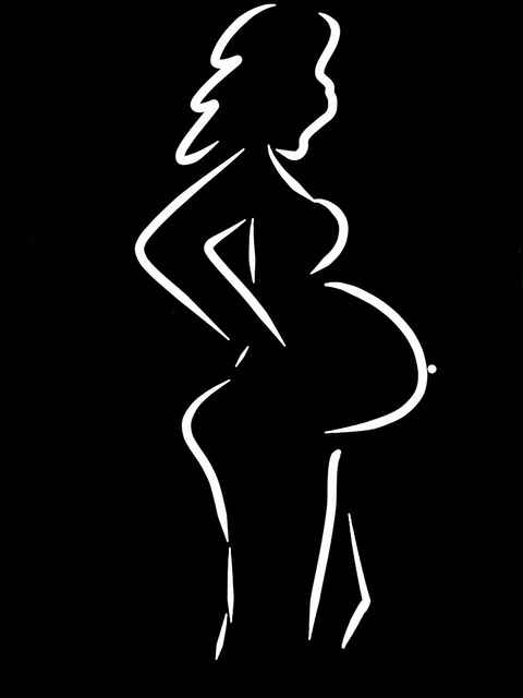 Pregnant woman drawing