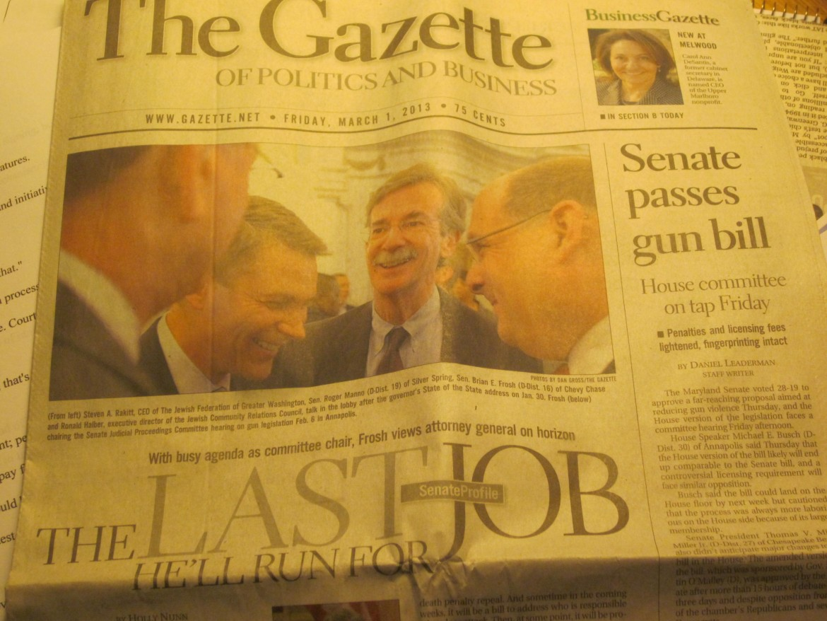 The Gazette of Politics and Business March 1: final edition?
