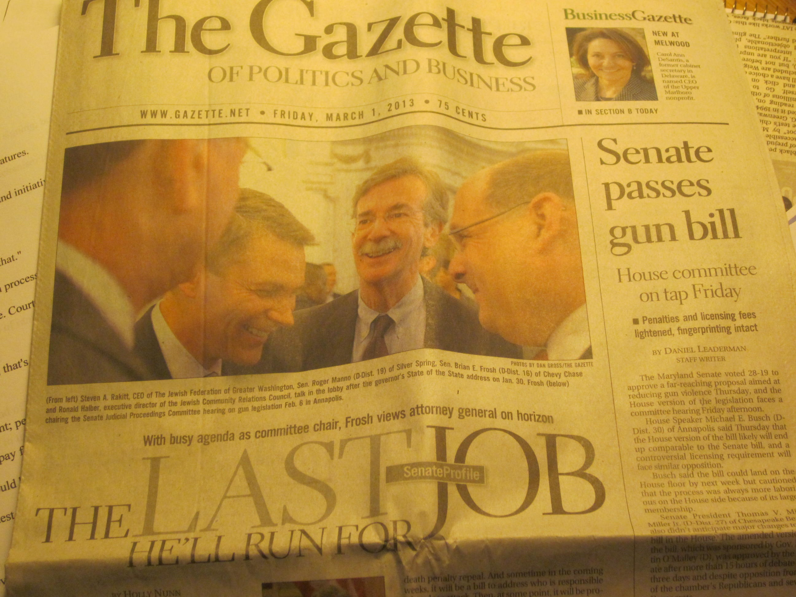Gazette of Politics and Business dropping its politics