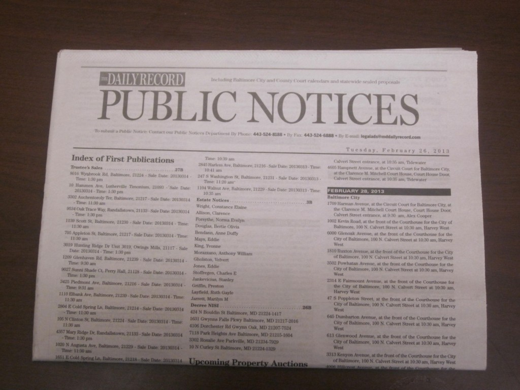 Public Notices ads