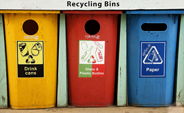 Recycling bins (by epSos.de on Flickr)