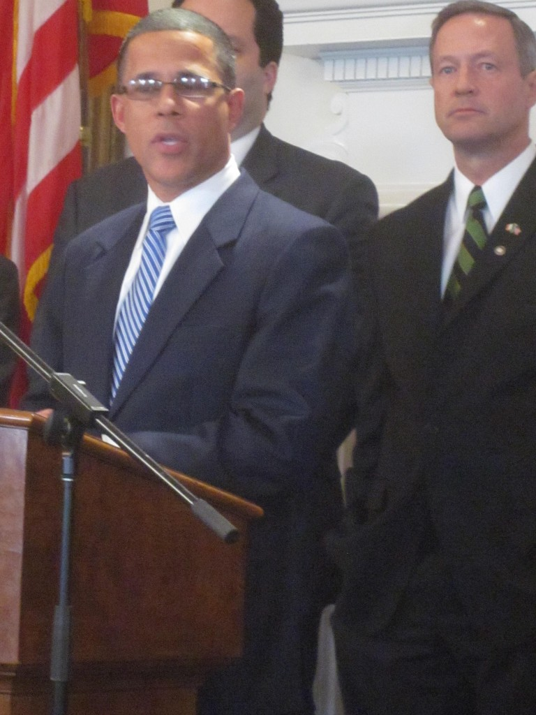Lt. Gov. Anthony Brown, left, with Gov. Martin O'Malley