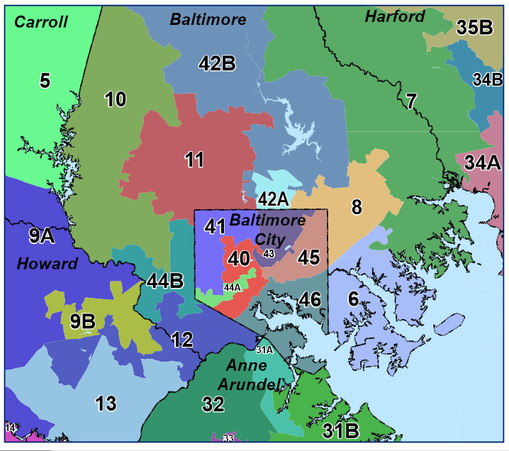 Baltimore area delegate districts