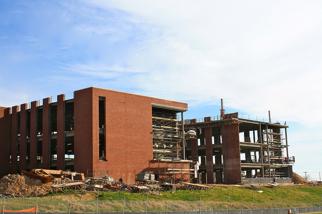 Dundalk High School under construction (Photo by sugargliding on Flickr)