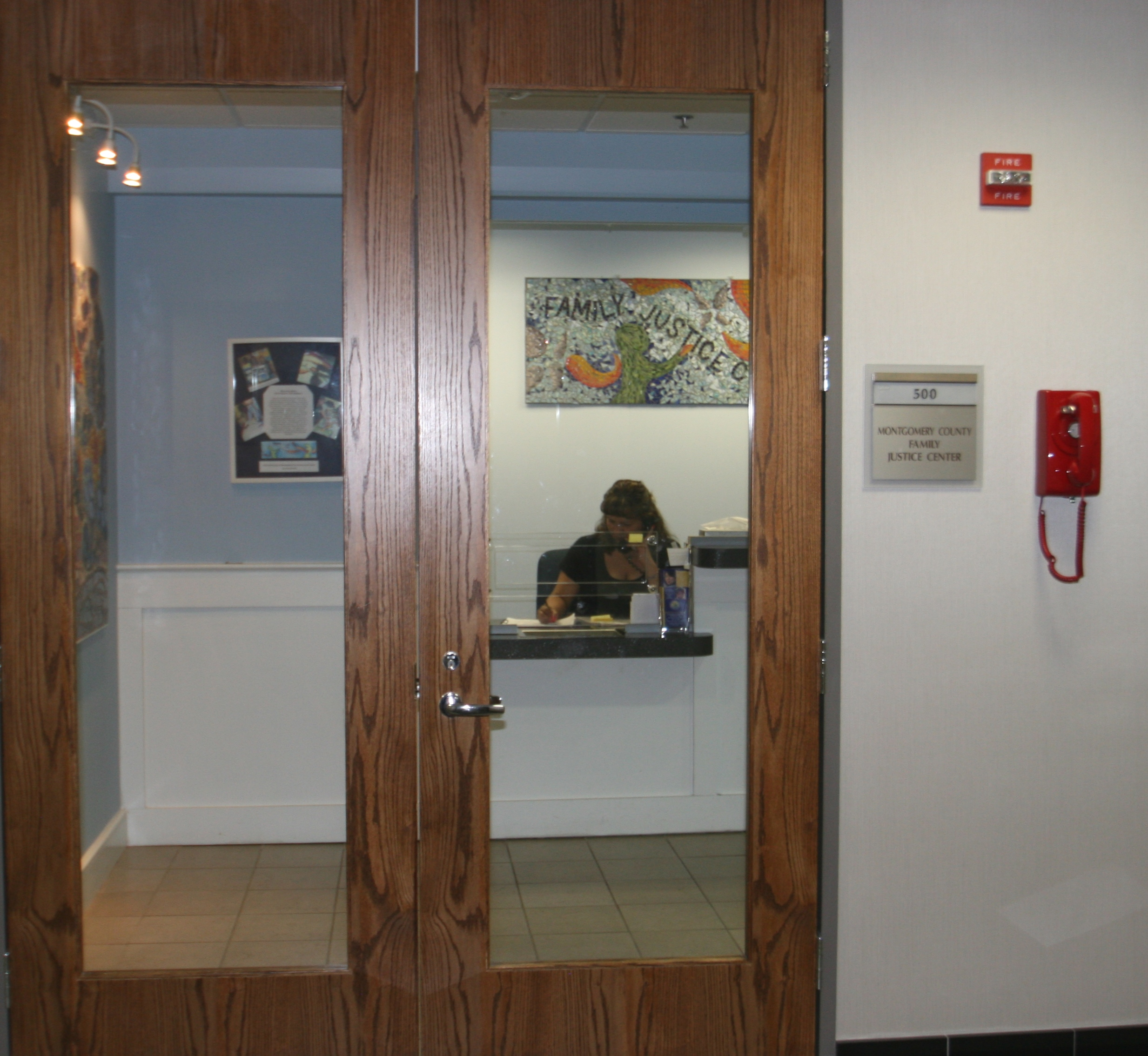 Entrance to Family Justice Center