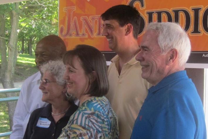 From left: Elijah Cummings, Shane Pendergrass, Janet Siddiqui, Guy Guzzone, Jim Robey